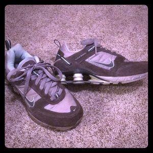 Nike Shox Women's 7. Grey/baby blue athletic shoe